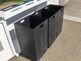Indoor Trash/Recycle Bin, Rectangle, Solid Body, 108 Gallon - HS345