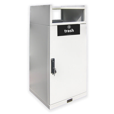 Food Court Waste Receptacle, Square, Powder Coated, 36 Gallon - FC36