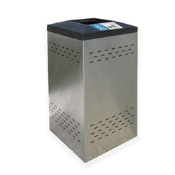 Flex Series. Stainless Steel Custom Indoor Trash Can / Recycle Bin. 36 gallons - Model FX36-01-SS