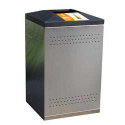 Flex Series. Stainless Steel Custom Indoor Trash Can / Recycle Bin. 50 gallons - Model FX50-SS