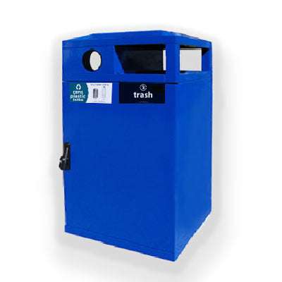 Mutlistream Double Trash Cans and Recycle Bins, 64 gals - HS64