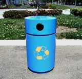 Outdoor Trash Can, Round, Powder Coated, 35 Gallon - RSO-35
