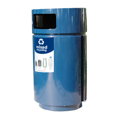 Outdoor Trash Can, Round, Powder Coated, 35 Gallon - RS0-35