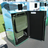 Outdoor Trash or Recycle Cart Garage, Solid Body or with Panels, Holds One 32-35 Gallon Poly Cart - CG35