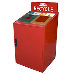 Indoor Trash/Recycle Bin, Rectangle, Solid Body, 64 Gallon - RC2
