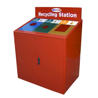 Indoor Trash/Recycle Bin, Rectangle, Solid Body, 96 Gallon - RC3