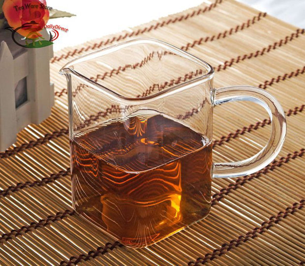 Small Square Heat-Resisting Glass Tea Pitcher