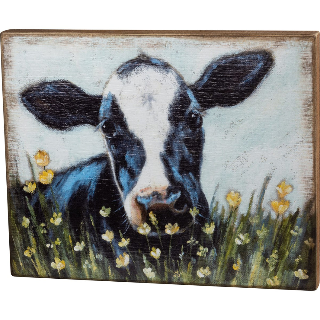 box sign- cow