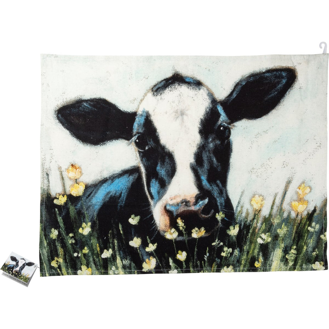Dish Towel - Cow