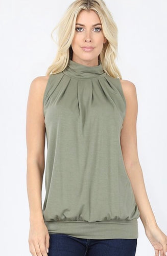 HIGH NECK OLIVE TANK