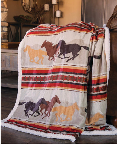 Wrangler Running Horses Throw