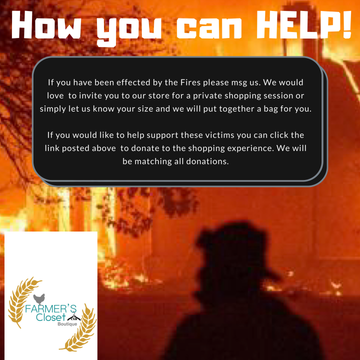 Fire Victim clothing relief