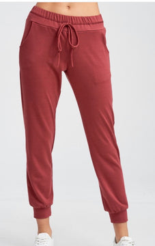 Solid Knit Joggers With Side Pockets