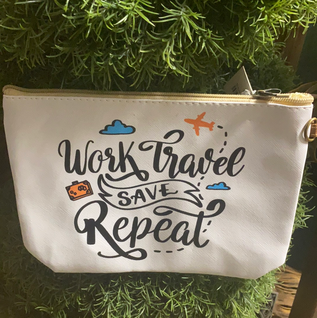 Work,Travel, Save, Repeat bag