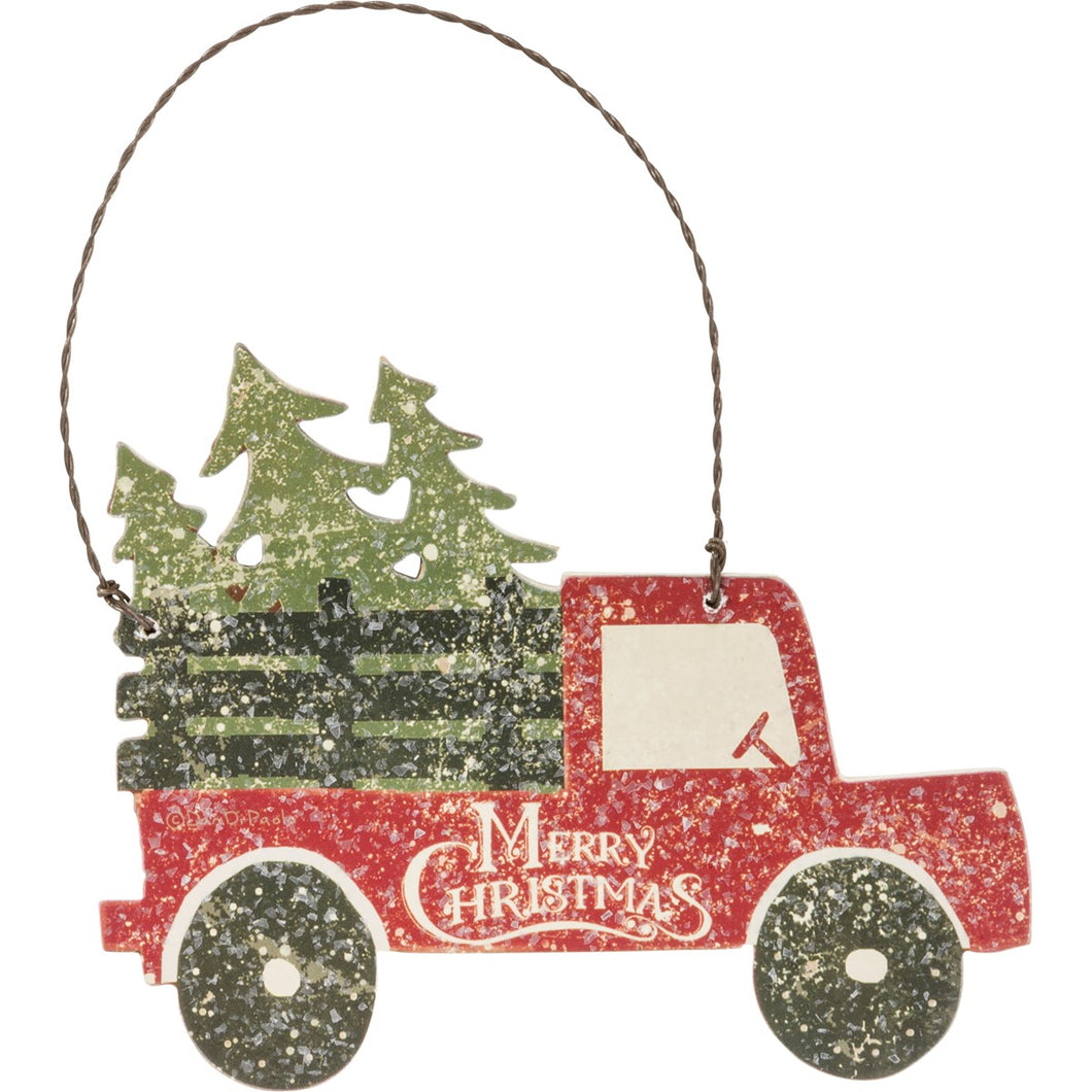 Merry Christmas Tree/Truck Ornament