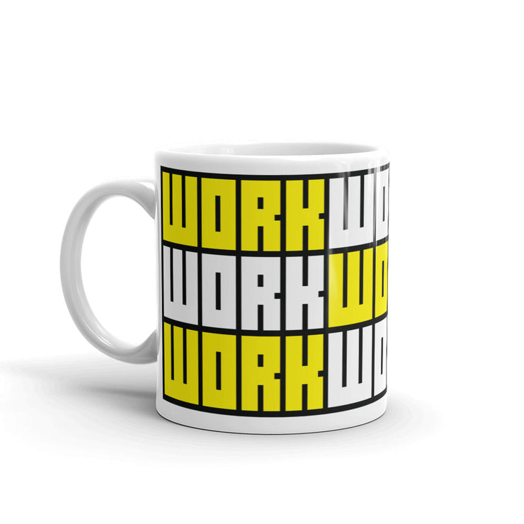 HARD WORK Pattern Mug