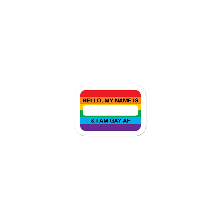 Hello, I'm Gay Sticker