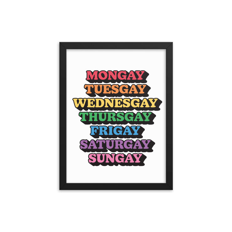 Gay Everyday Framed Print