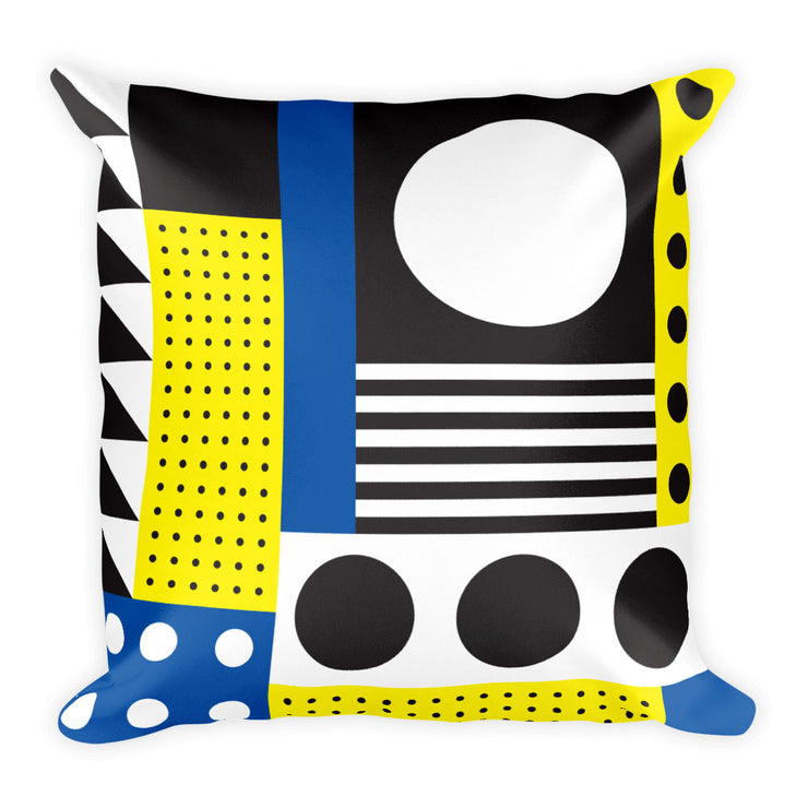 Dazzling Blue&Yellow Pillow