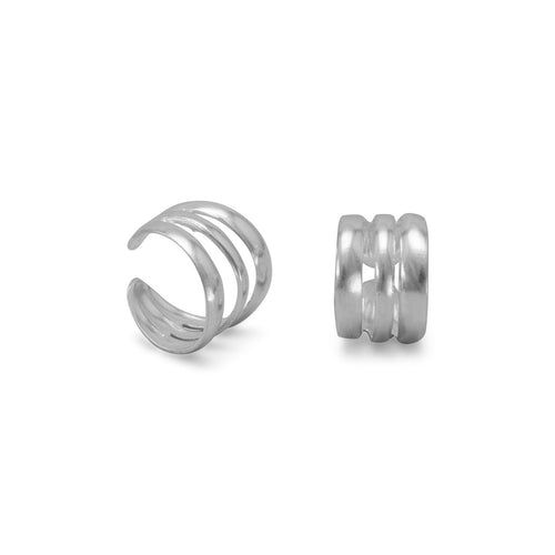 3 Row Polished Ear Cuffs