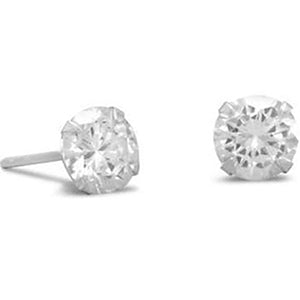 6mm CZ Stud Earrings (April)