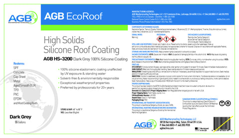 AGB High Solids Silicone 3300 55 Gallon - AGB Weatherproofing Technologies, LLC