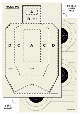 TMAC Inc Paper Target (Double-Sided)