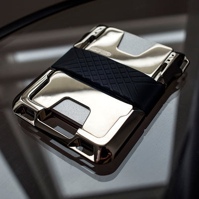 M2 MAVERICK WALLET - NICKEL PLATED - HAND POLISHED - SINGLE POCKET LEATHER