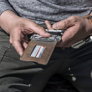 M1 MAVERICK TACTICAL BIFOLD WALLET - 4 POCKET BIFOLD RAW LEATHER