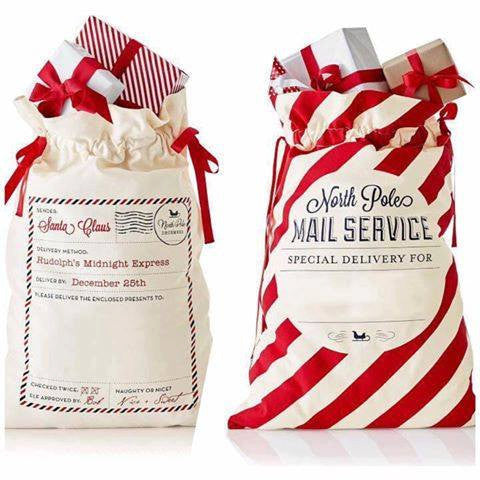 Personalized Canvas Santa Sacks