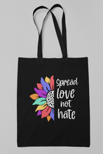 Spread Love, Not Hate Tote Bags