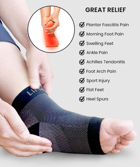 FlexyFit Feet Compression Sleeve Foot Pains