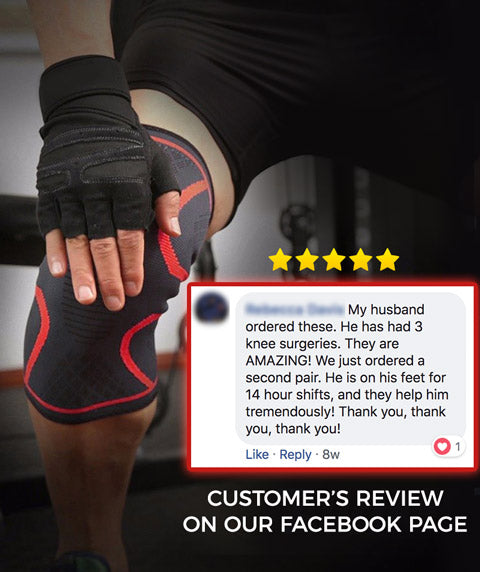 OxyFlow Knee Compression Sleeves Testimonial