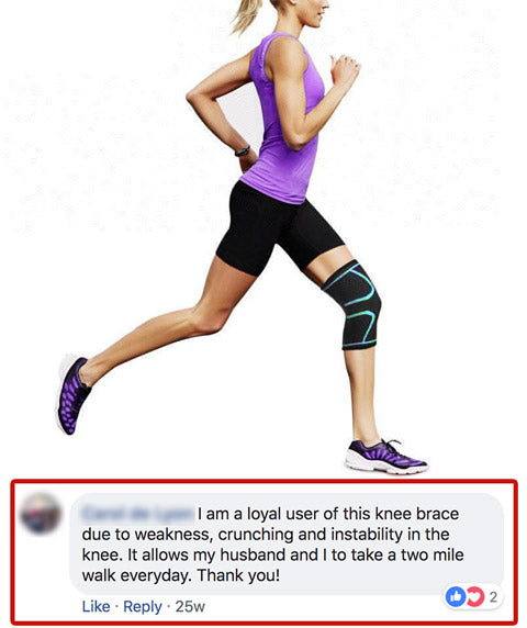 OxyFlow Knee Compression Sleeve Testimonial