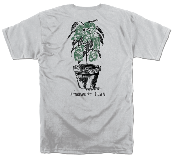 RETIREMENT TSHIRT - SILVER