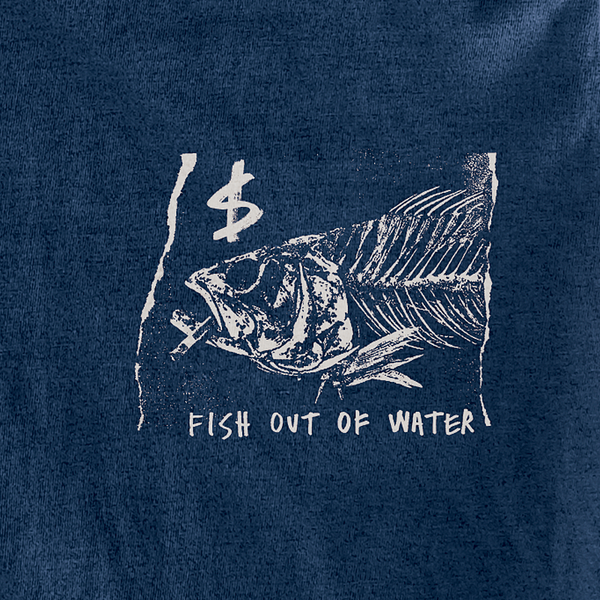 FISH OUT OF WATER TSHIRT - NAVY