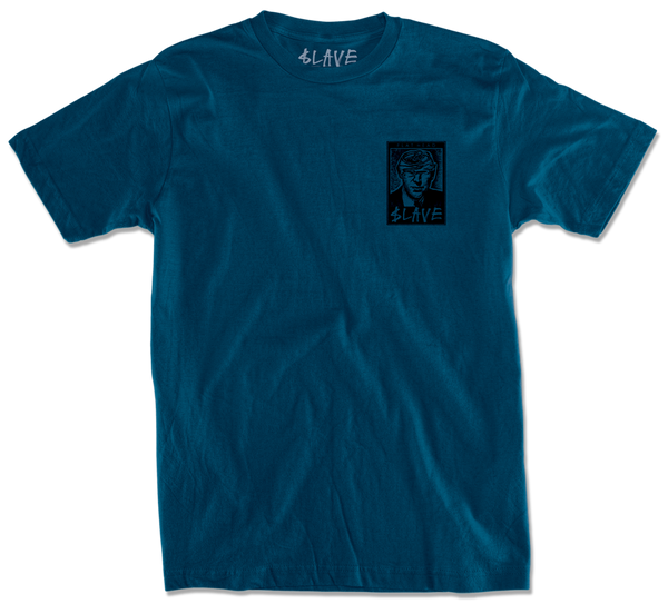 FLAT HEAD TSHIRT - PORT BLUE