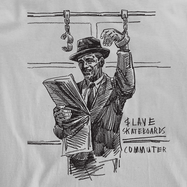 THE COMMUTER TSHIRT - SUBWAY SILVER