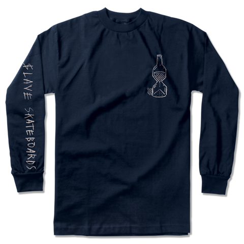HAPPY HOUR L/S TSHIRT - NAVY