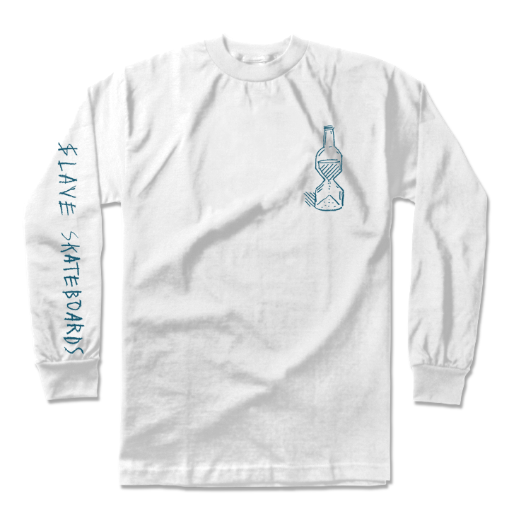 HAPPY HOUR L/S TSHIRT - WHITE
