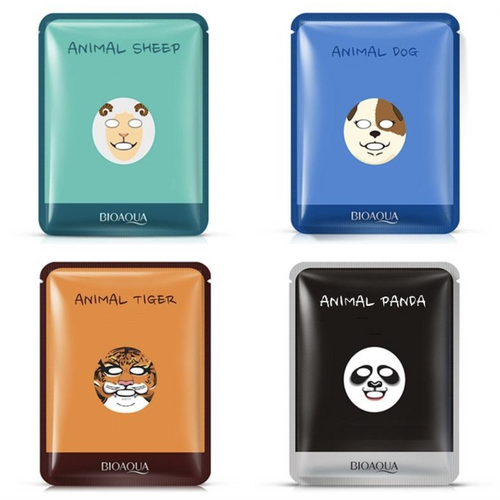 Nourishing Animal Facial Masks - Pack of 4