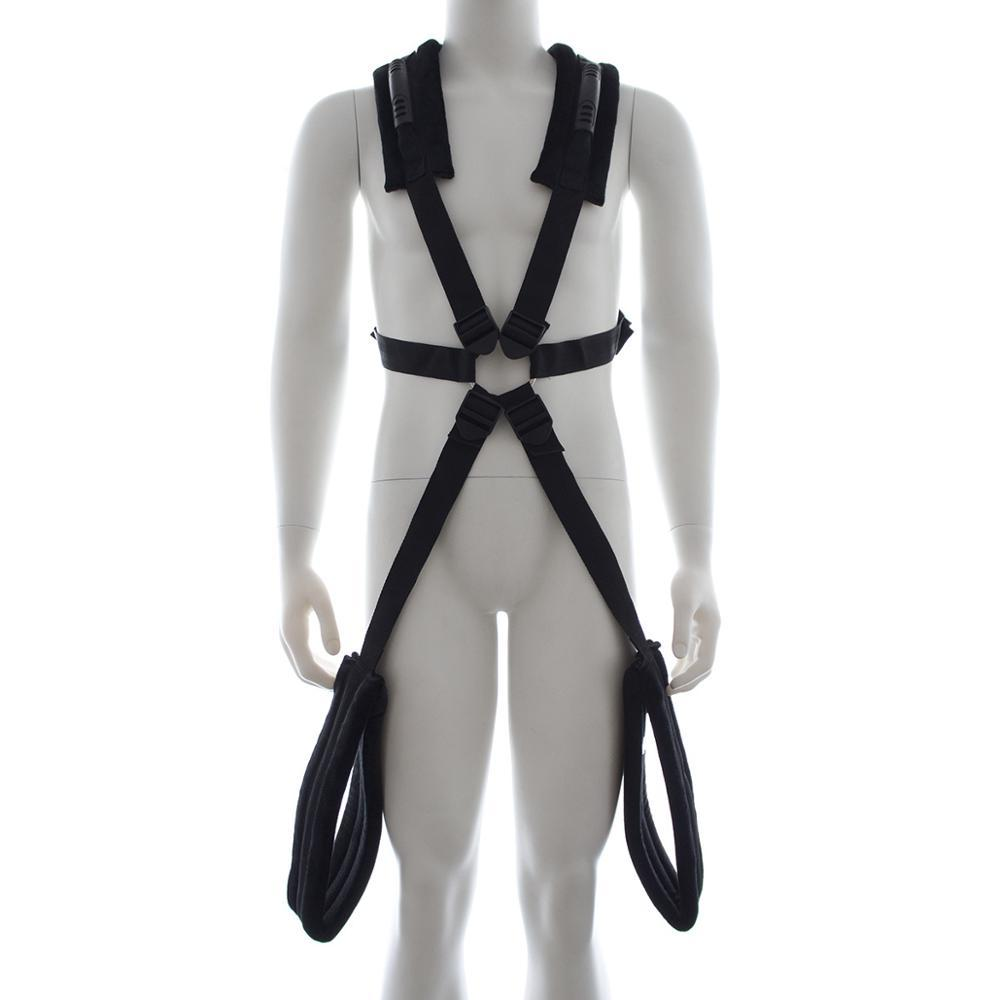 Black Thigh Holder Support Harness with Handles