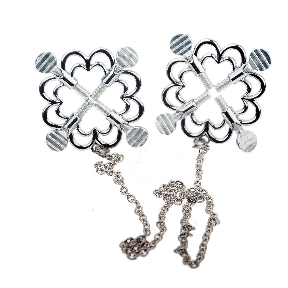 Flower Style Nipple Clamps and Chain