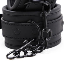 Top Quality Genuine Leather Black Handcuff Ankle Cuff Slave Game BDSM Fetish Bondage Sex Toy
