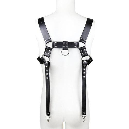 Wholesale Sex Toys Leather Bondage Belt Tight Leather Jacket Chest Harness for Men