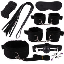 Adult Toy Wholesale 8pcs/set Bdsm Bondage Nylon Set Handcuff Ankle Cuff Mouth Gag Rope