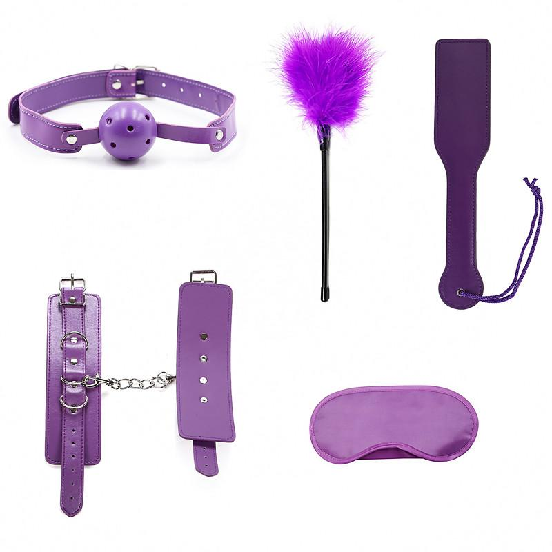 5PCS BDSM Bondage Sex Set Sexy Toys Leather Products for Adult