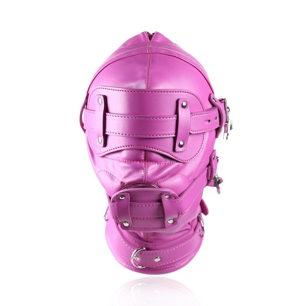 Pink Fetish Mask with Gag