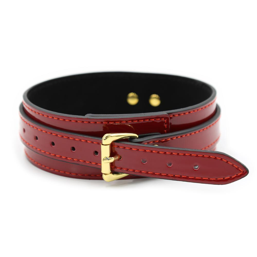 Red Patent Collar