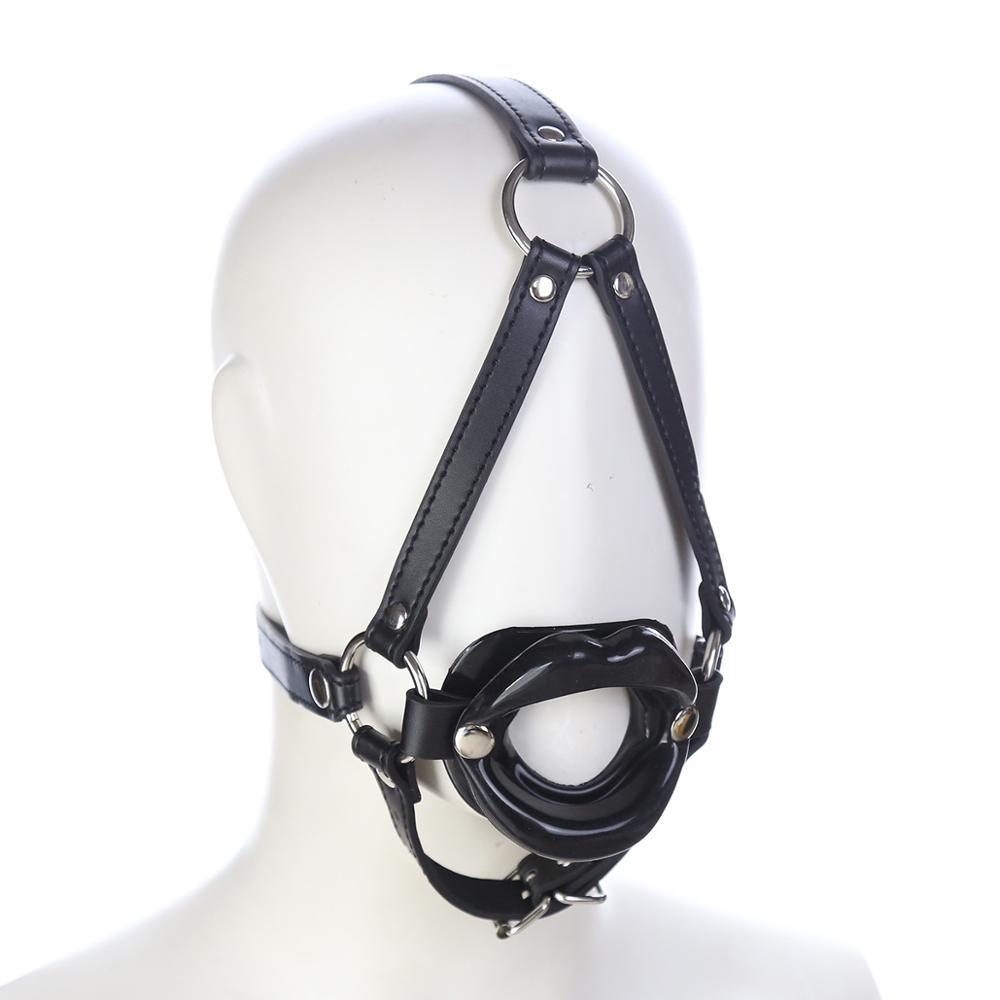 Hot Lips Head Harness and Open Mouth Gag